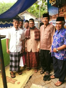 Bersama Bp Kepala KUA Purwosari (paling kanan), lalu sebelah kirinya Bp Camat Purwosari.