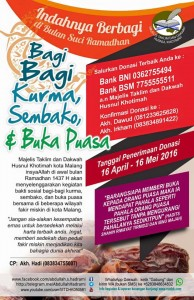 Pamflet Buka Puasa, Korma, Sembako